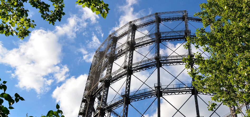 old gasometer on EUREF Campus