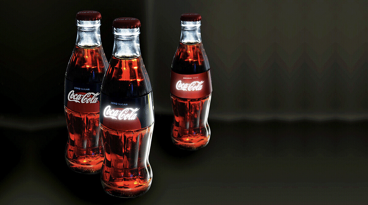 Luminous Coca Cola labels