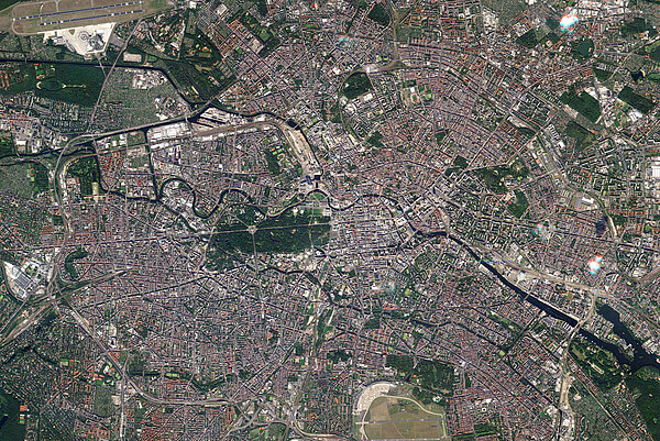 Berlin, Photo, Satellite, City, Space
