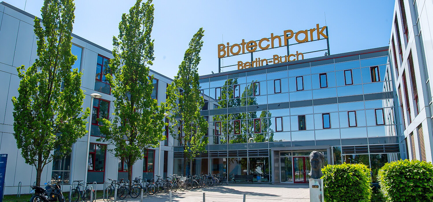 The main entrance to BiotechPark Berlin-Buch