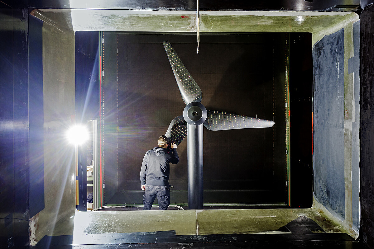 Research into wind turbine rotor blades at the Technical University Berlin