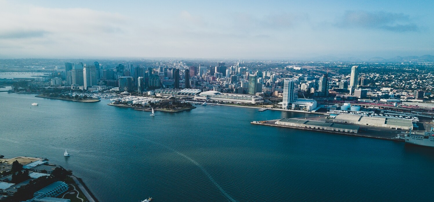 bird's eye view of San Diego