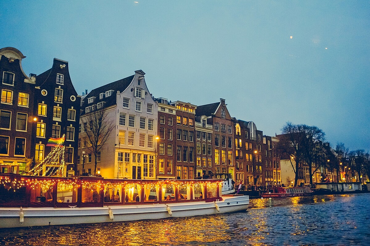 Amsterdam riverside city photo
